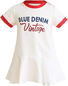 JYC 2019 Baby Girl Dresses Toddler Kid Girl Short Sleeve Letter Printed Party Princess Dress Clothes
