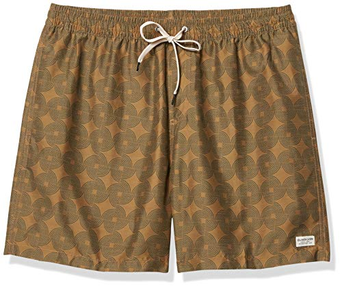 Quiksilver Men's Threads and FINS Volley 17 Boardshort Swim Trunk, Dull Gold, L
