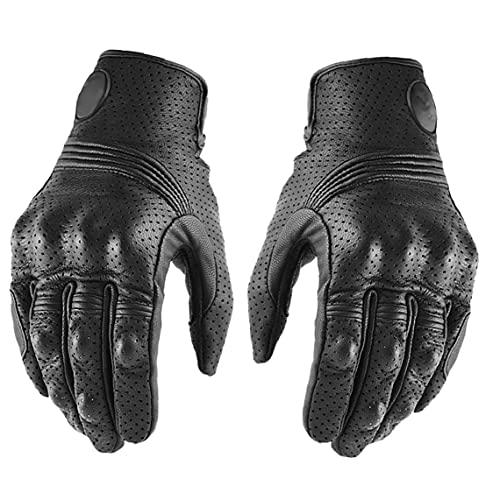 Fietsenhandschoenen, Lederen Moto Rijhandschoen Touch Screen Fietsen Handschoenen Ademend Voor Voetbal, Rugby, Hardlopen…