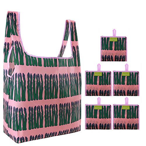 Grocery Shopping Bags Lightweight Sturdy Reusable Tote...