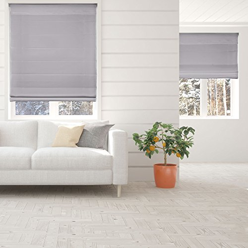 Calyx Interiors Cordless Lift Fabric Roman Shades in Size 26.5-Inch Width x...