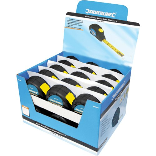 Silverline 633848 Messband mit automatischer Sperre, 868787