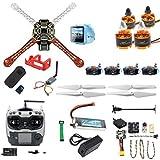 FEICHAO DIY RC Drone Kit F450-V2 FPV Quadcopter avec télécommande AT9S Mini PIX Mini GPS Q6 4K Caméra d'action Grand Angle FPV Watch / FPV Goggles Full Set Drone Kit (FPV Watch Version)