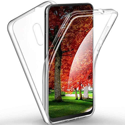 XCYYOO Funda para LG K40 Silicona,Carcasas[Carcasa Protectora 360 Grados Full Body] Transparente Suave Ultrafina Gel Silicona TPU+PC Anti-Choque Anti-Arañazos Protectora Case
