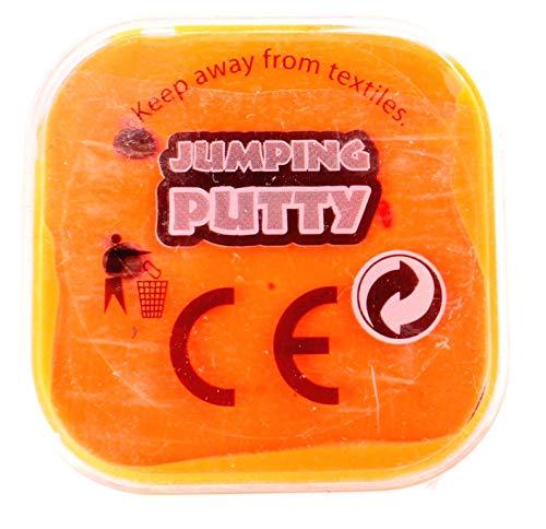 JohnToy Jumping Putty mit Ösen Orange 4,5 cm