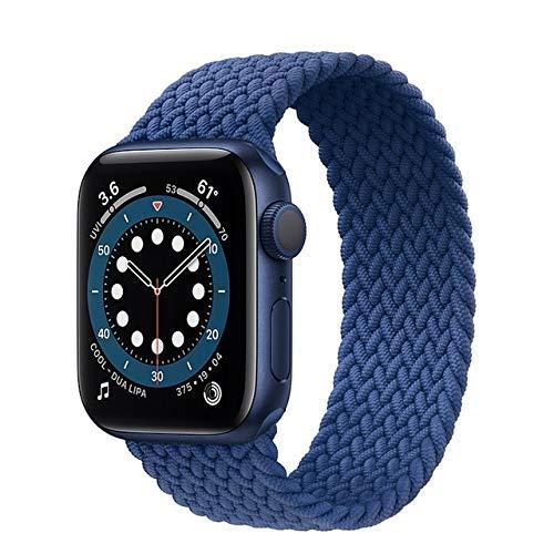 Correa trenzada para reloj de 4 mm y 40 mm para Apple Band de 4 mm y 40 mm (color: azul atlántico, tamaño: grande)