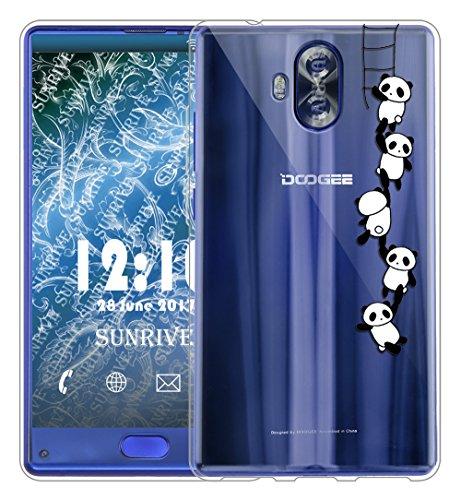 Sunrive Für DOOGEE Mix Lite Hülle Silikon, Transparent Handyhülle Schutzhülle Etui Hülle Backcover für DOOGEE Mix Lite 5,2 Zoll(TPU Panda 1)+Gratis Universal Eingabestift
