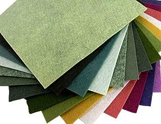 15 Succulent Colors 9x12 inches Merino Wool Blend Felt Sheets Collection - OTR felt