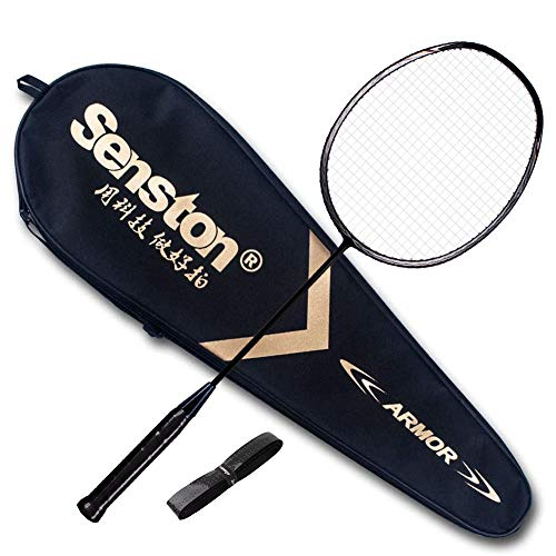 Photo of Senston Badminton Racket N80 Graphite Single High-grade Badminton Racquet,Carbon Fiber Badminton Racket,Including Badminton Bag