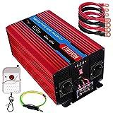 Inversor 12V 220v Onda Pura 3000W /6000W ETREPOW Convertidor de Voltaje con 2 Tomas...