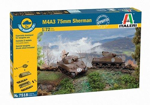 Italeri 510007518 - 1:72 Sherman M4A3 75 mm, 2 Stück