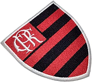 TRS024T Flamengo Brazil Shield Football Soccer Embroidered Patch Iron or Sew Size 3.74×3.93 in