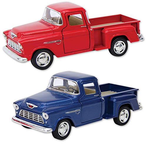 1955 Chevy Stepside Pick-Ups - Only one included - Die Cast - Available in Red or Blue