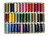 ZXUY 39 Assorted Color 200 Yards Per Unit Polyester Sewing Thread Spool Set