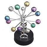 Geocero Physics Mechanics Science Toys - Newton's Cradle, Kinetic Art Asteroid, Perpetual Motion, Balance Balls Desk Toy Home Decoration, Home Office Desk Decoration (Asteroid)
