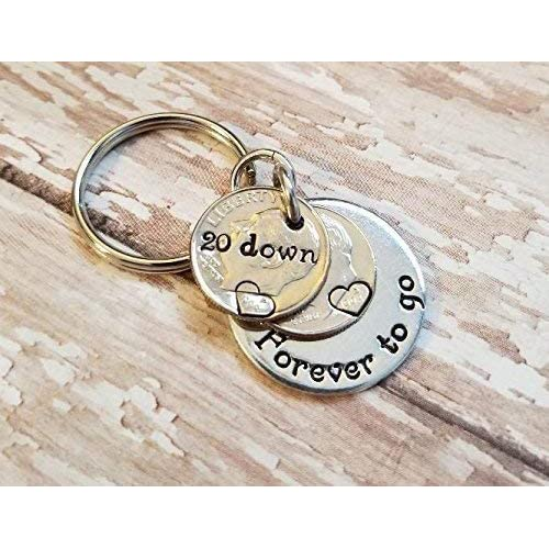 ab7c2d69d8bb 20 Down Forever To Go with Two 1998 Dimes Key 20th Chain Anniversary Gift