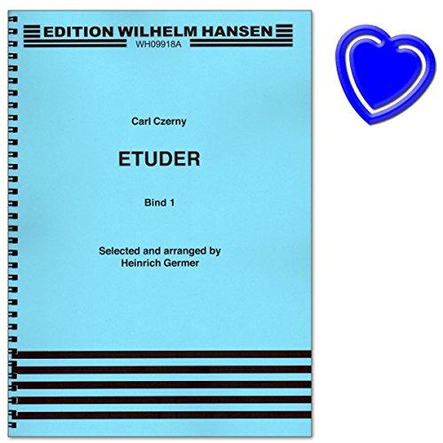 Ausgewählte Klavier-Etüden von Carl Czerny - Herausgeber: Heinrich Germer - ( Noten mit bunter herzförmiger Notenklammer)