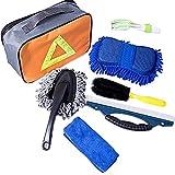 Lavage Voiture Kit, 7pcs Kit Nettoyage Voiture Intérieur Extérieur Professionnel Produit, Eponge|...