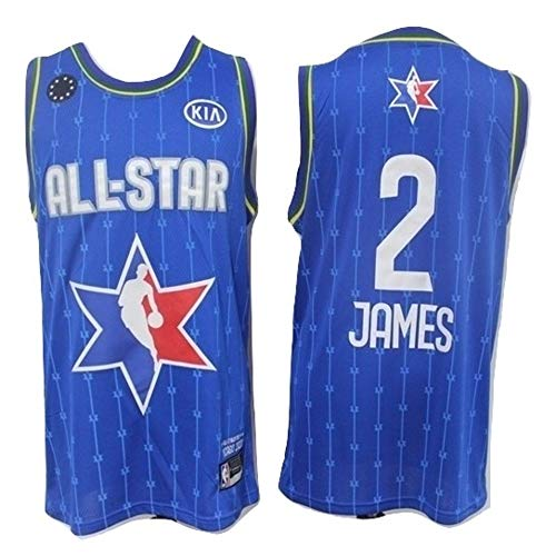 WOLFIRE WF Camiseta de Baloncesto para Hombre, NBA, All-Star. Kobe Bryant Antetokounmpo James Leonard Walker Davis Doncic Young. Bordado (James, XL)