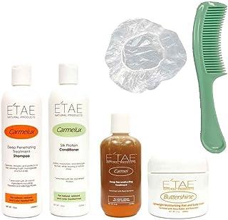 Etae Carmel Shampoo + Conditioner + Treatment + Buttershine + Shower Cap + Shampoo Comb