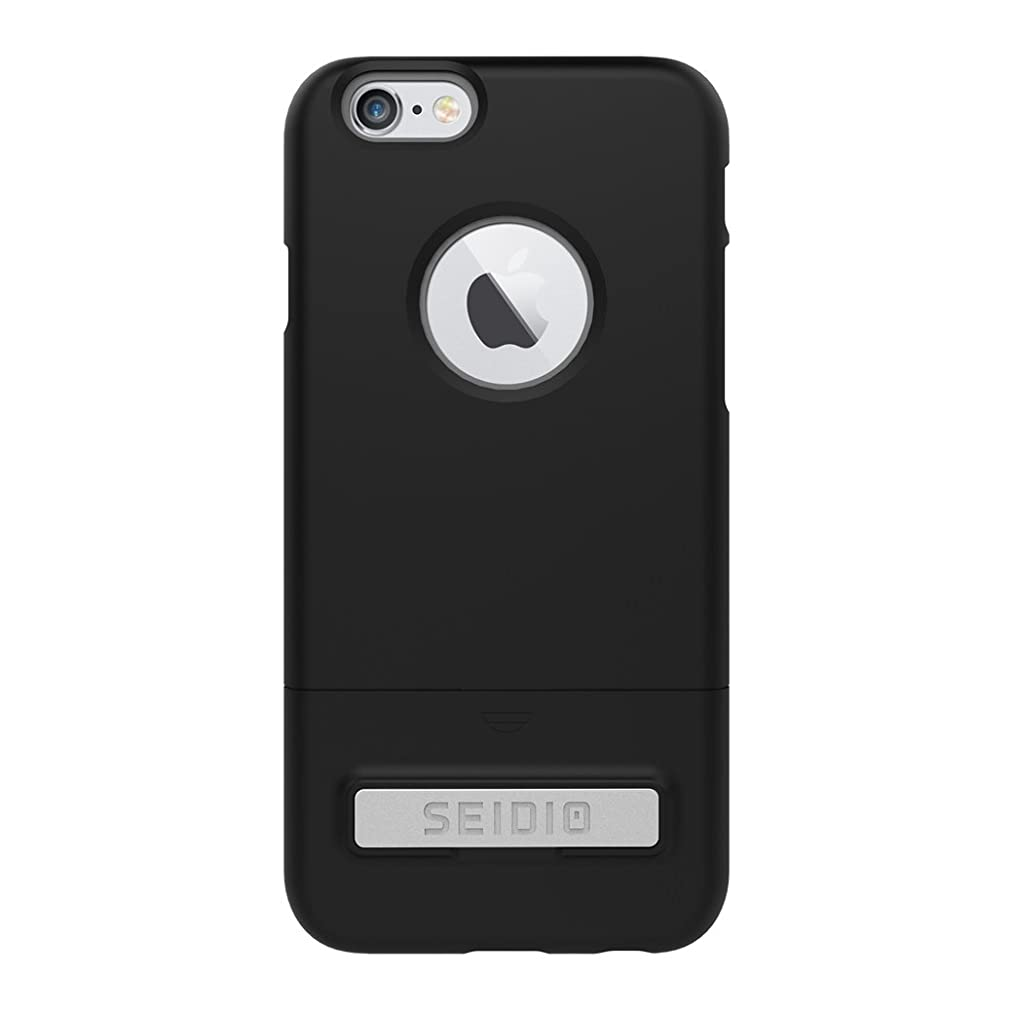 Seidio SURFACE with Metal Kickstand Case for iPhone 6/6S [Dual-Layer Protection] - Non-Retail Packaging - Black/Gray