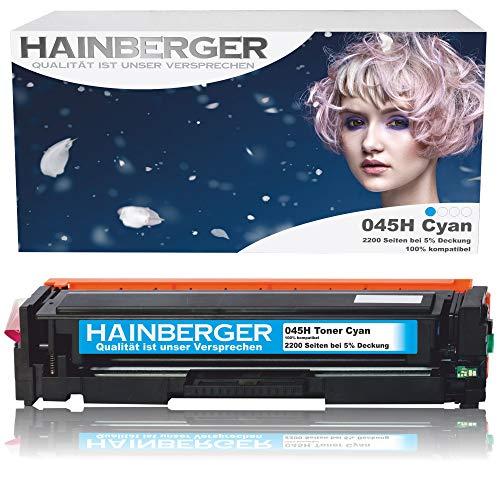 Hainberger Toner Cyan Kompatibel zu Canon 045 045H CRG-045H CRG-045 045HBK für Canon i-sensys MF635cx MF633cdw MF634cdw MF631cn MF632Cdw MF636Cdwt MF631 MF635 MF634 LBP613cdw LBP612cdw LBP611cn