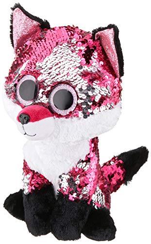 TY 36440 Jewel Fox Plüschtier, RoseBlancEtNoir, 23 cm