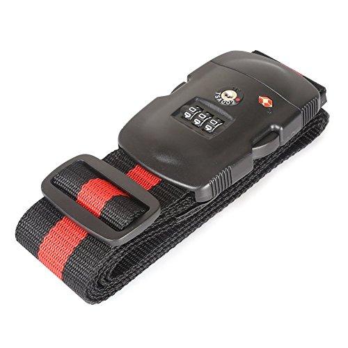 Gearmax® TSA Correa de Seguridad para Equipaje con Cierre, TSA Aceptado, 3 Dígitos(Multicolor)