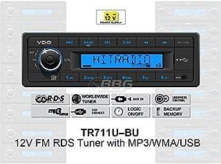 VDO 12 Volt PKW Auto Radio, RDS Tuner, MP3, WMA, USB, 12V TR711U BU