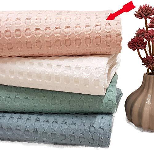 Dolcecasa Manta de piqué Suave y Ligera para Noches Calientes, tamaño: Aprox. 150 cm x 200 cm, 100% algodón Puro, Agradable al Tacto.