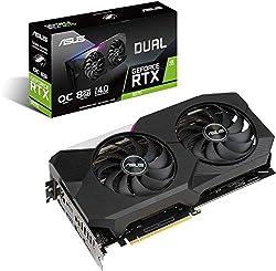 ASUS Dual GeForce RTX 3070 8GB OC Edition Gaming Grafikkarte (GDDR6 Speicher, PCIe 4.0, 2x HDMI 2.1, 3x DisplayPort 1.4a, DUAL-RTX3070-8G)