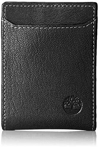 Timberland Men's Blix Minimalist Slim Money Clip Wallet, Black, One Size