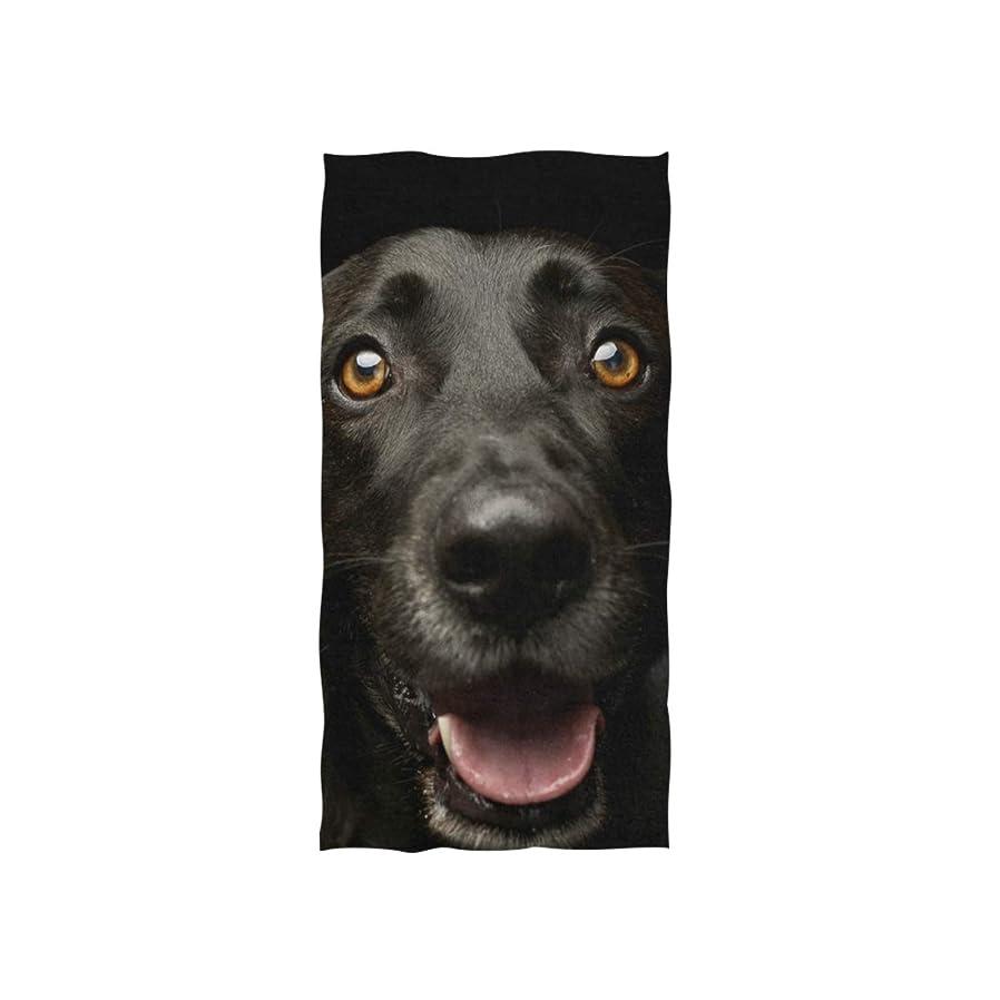 好みクーポンのスコアLUYISI バスタオル 犬柄 ブラック ふわふわ 柔らか肌触り 吸水 速乾 抗菌防臭?ギフト用 約76×38cm