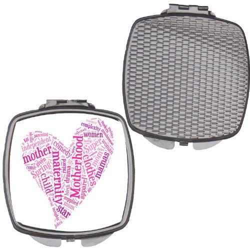 Kompaktspiegel für Damen zum Muttertag, Herzform, Geschenkidee