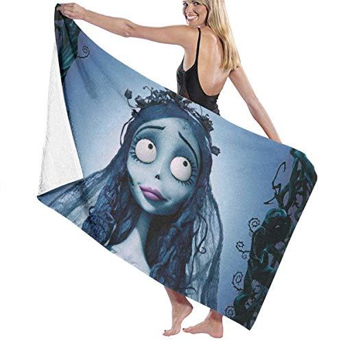 FSTGFFST Tim Burton's Corpse - Toalla de Playa de algodón de Microfibra Absorbente, Toalla de baño de Secado rápido para Mujeres, niños y Hombres