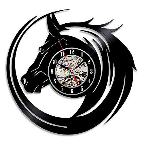 wtnhz LED Colorful vinyl wall clock New CD Vinyl Record Wall Clock Modern Design Wall Clock Animal Dog Cat Horse Wall Clock Classic Clock Parede
