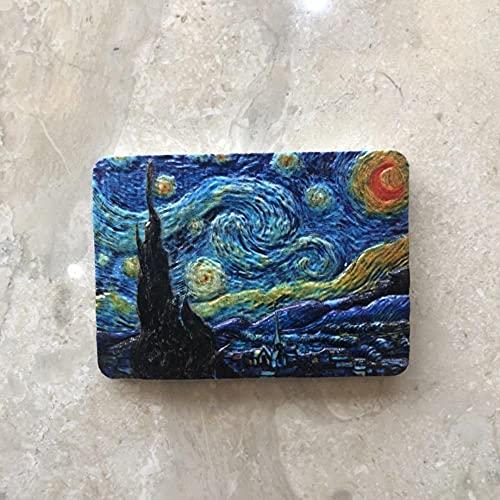 Van Gogh-Ölgemälde Sonnenblumenstern Nacht Memorial Stereo Kühlschrank Aufkleber Kühlschrank Dekoration Magnet-Bild 3.