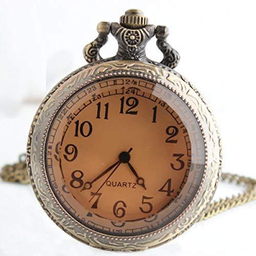 MOLINB Reloj de Bolsillo Big Bronze Tea Glass Vintage Steampunk Pocket Watch...