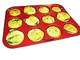 keliwa's 12 - Cup Silicone Muffin - Cupcake Baking Pan/Non - Stick Silicone Mold/Dishwasher -...