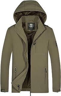 Men's Plus Size Waterproof Windbreaker Hoodie Hat Outwear Jacket Detachable Breathable Sport Outdoor Coat