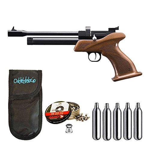 Outletdelocio. Pistola perdigon ZCP1M55 Zasdar CP1 co2 5,5 mm+ Funda Portabombonas + Balines + Bombonas co2. 23054 29318 36580