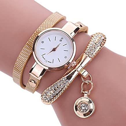 Women Luxury Crystal Women Bracelet Quartz Bling Wristwatch Rhinestone Clock Ladies Dress Gift Watches ~ Reloj