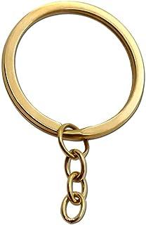 tumundo Anello Portachiavi Chiave Tondo Keyring Argento Oro Nero Acciaio Set con Catena Metallo Gioielli Lucente Cerchio