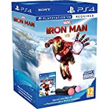 Twin Move Controllers + Marvel's Iron Man VR Move Motion Sony Playstation 4 - Twin Pack Bundle