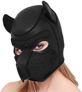 Máscara de Halloween de novedad de neopreno para cachorro, perrito de cara completa para disfraces