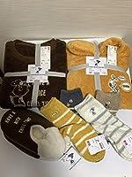 UNIQLO ユニクロ ピーナッツ ホリデー コレクション フリースセット ソックス ルームシューズ スヌーピー パジャマ 靴下 スリッパ 品