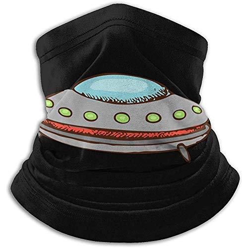 WARmin Calentador de Cuello Polaina Platillo Volante de Dibujos Animados Microfibra Suave Sombreros Máscara Bufanda Facial
