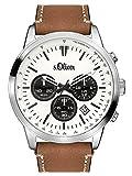 s.Oliver Time Herren-Armbanduhr SO-3335-LC, braun