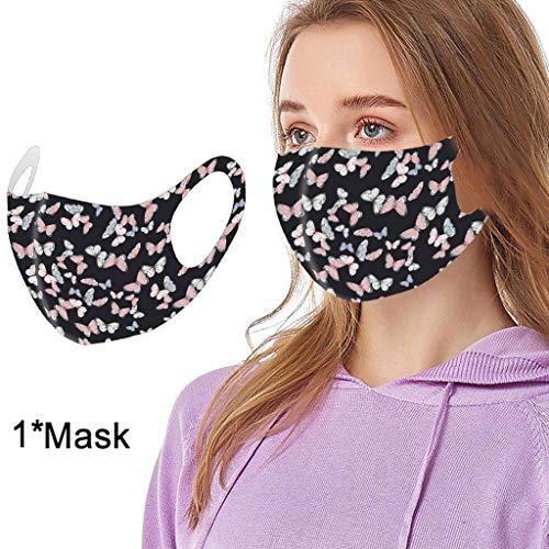 1 Stück Mundschutz Waschbar mit Motiv,Mundbedeckung Stoff Wiederverwendbare mundschutz für Erwachsene Anti-Staub mundschutz Freien reiten Sonnenschutz mundschutz (81B)