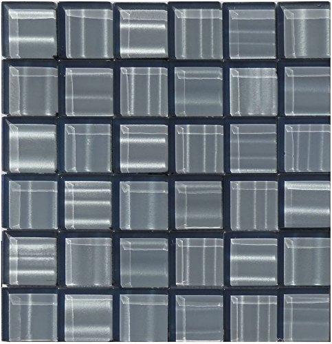 1 rete effetto specchio di vetro grigio